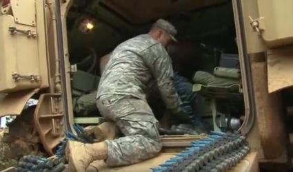 Picture of Soldier preparing ammo