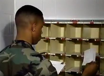 Soldier Sorting Mail